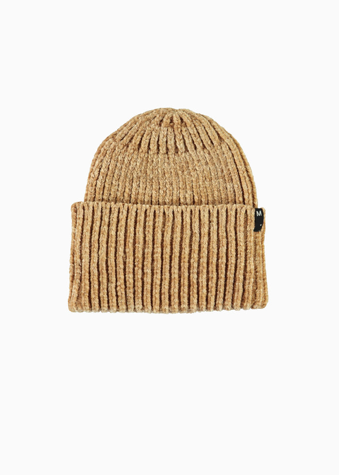 KITTY CHENILLE BEANIE - TAN