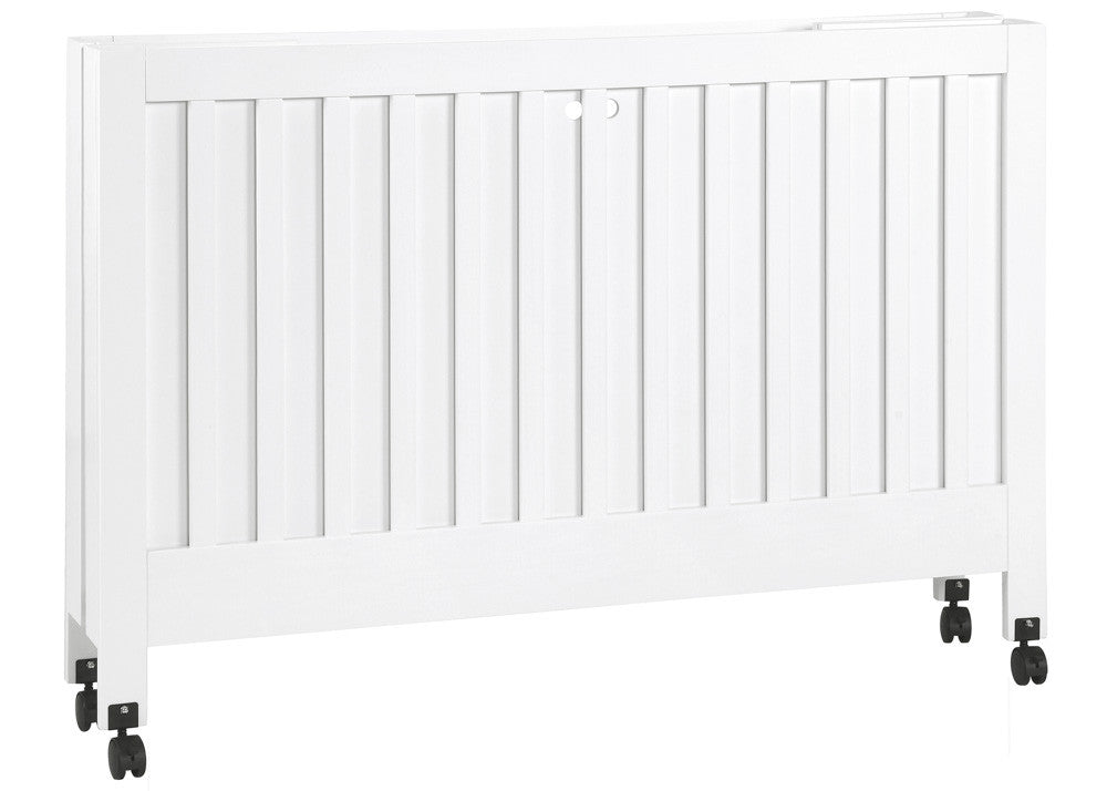 MAKI FULL SIZE FOLDING PORTABLE CRIB - WHITE