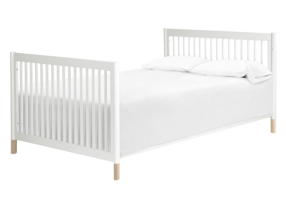 GELATO 4-IN-1 CONVERTIBLE CRIB WITH TODDLER BED CONVERSION KIT - WHITE