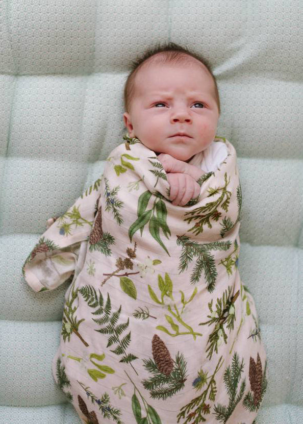 LUXE MUSLIN SWADDLE - AUTUMN LANE
