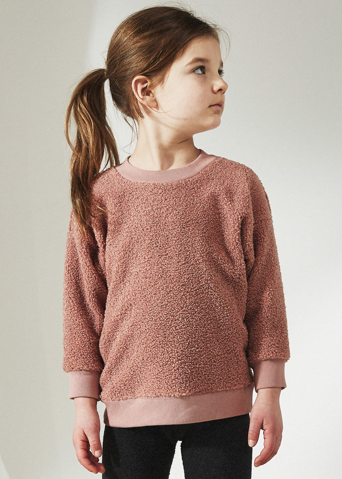 COZY SHERPA PULLOVER - ROSE