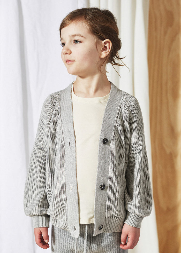 OVERSIZED CARDIGAN - DOVE