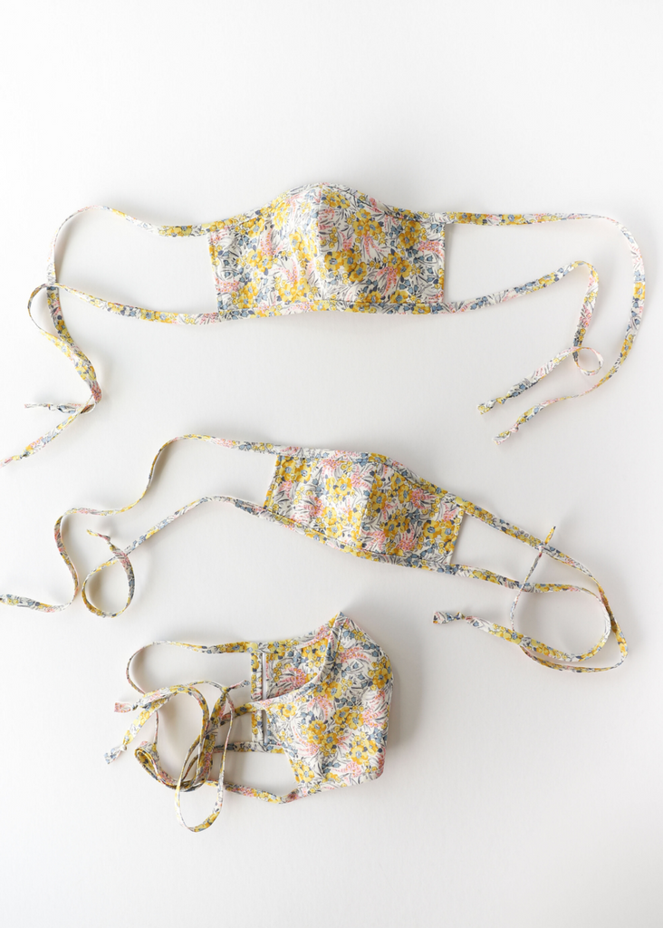 PRINTED WOVEN MASKS - BUTTERCUP