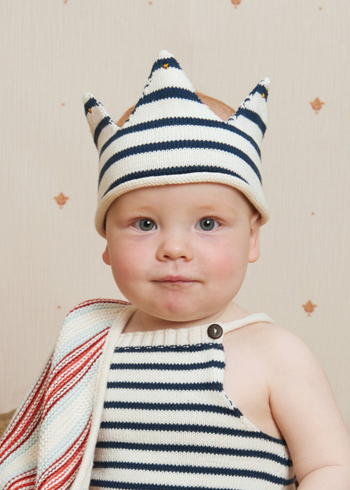 KNIT CROWN - NAVY STRIPE