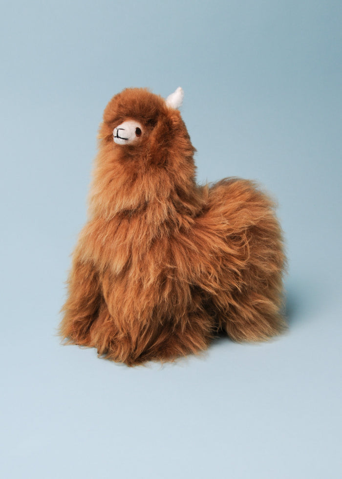 ALPACA STUFFED LLAMA - BROWN