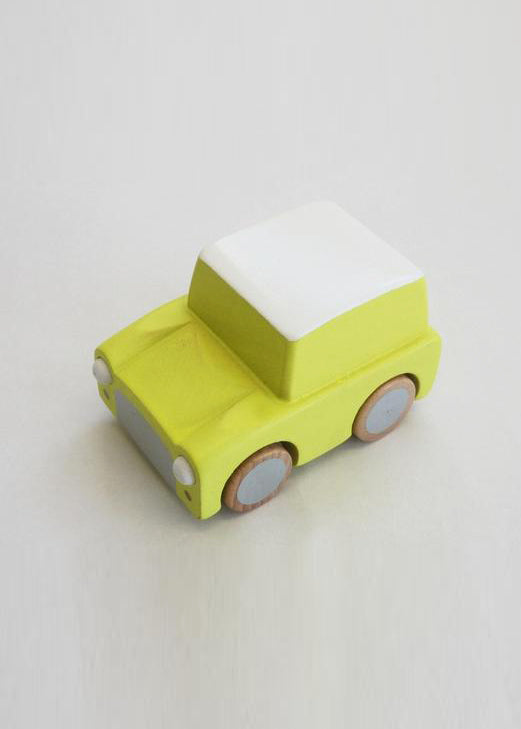 KURUMA WIND UP CAR - YELLOW