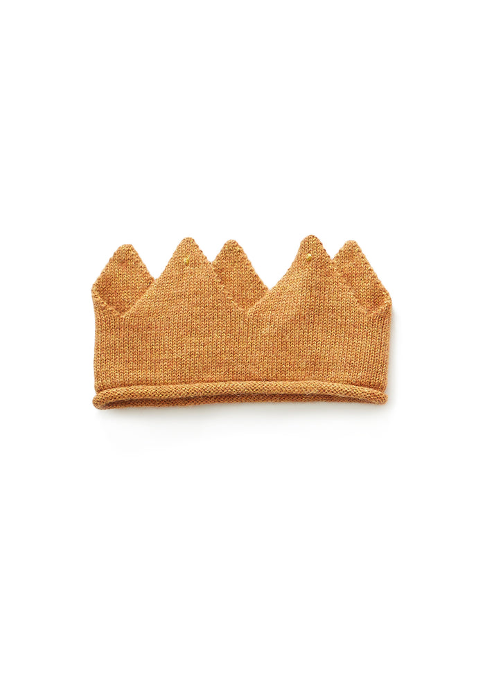 KNIT CROWN - OCHER/GOLD