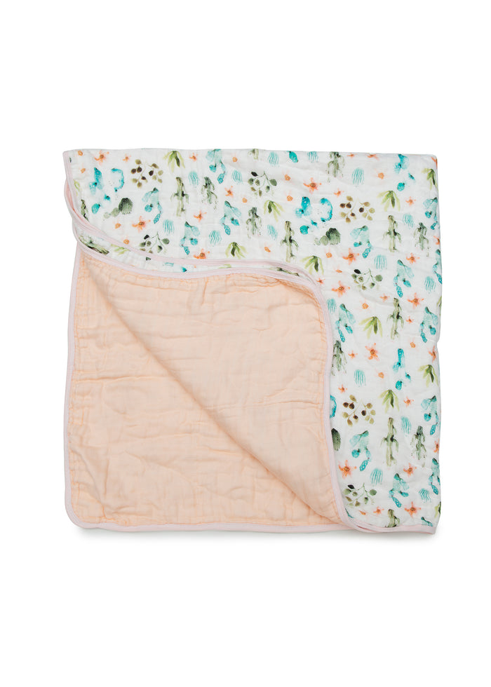 LUXE MUSLIN QUILT BLANKET - CACTUS FLORAL