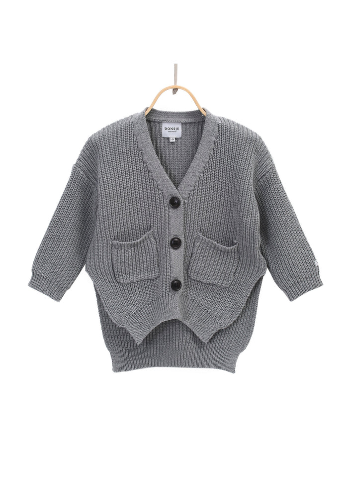 MACKY CARDIGAN - LIGHT GREY