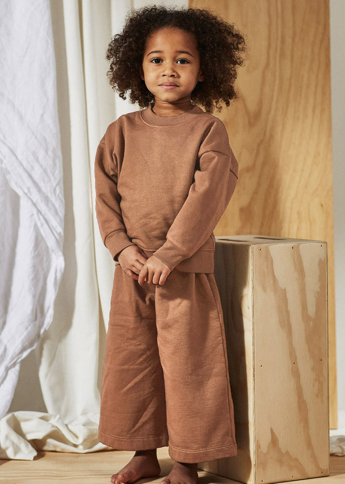 FLEECE WIDE PANT - NUDE