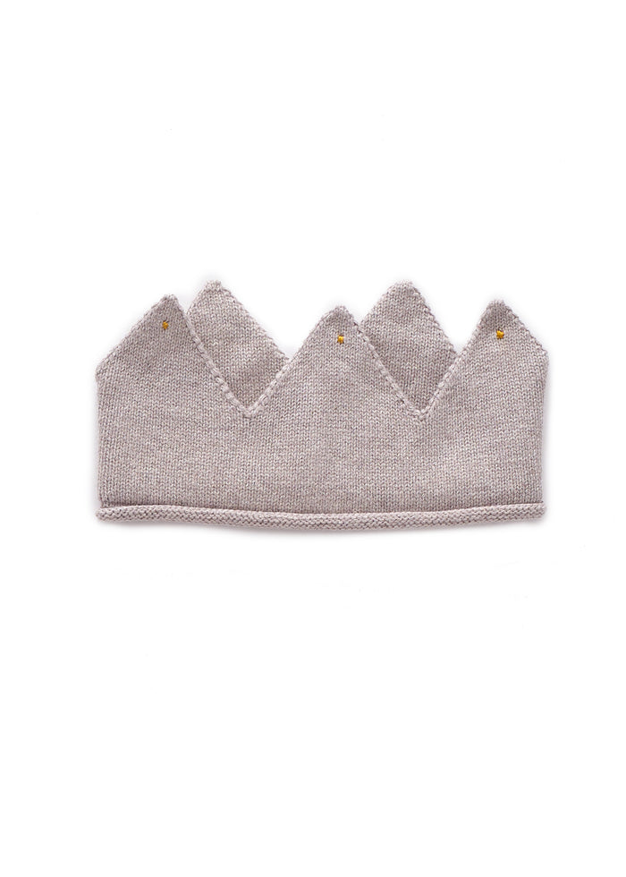 KNIT COTTON CROWN - LIGHT GREY