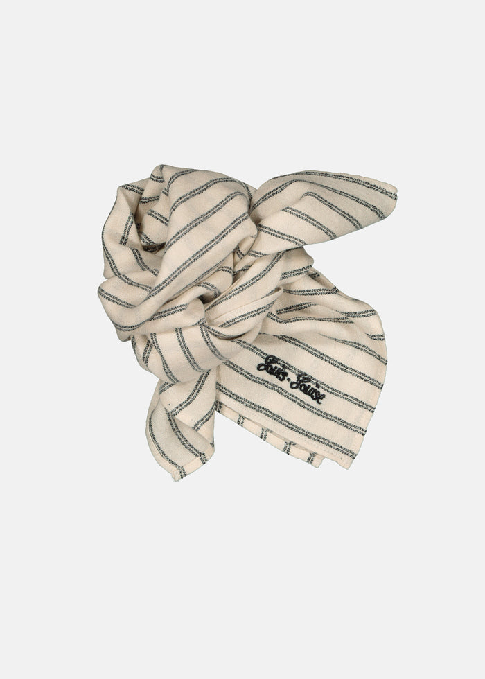 SISSI SCARF - WHITE/BLACK