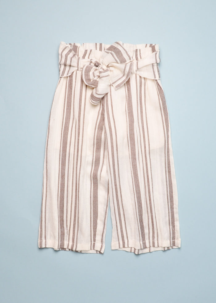 GAUZE STRIPED PANTS