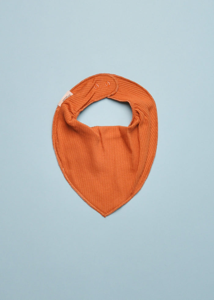 SCARF RIBBED BIB - DESERT ORANGE