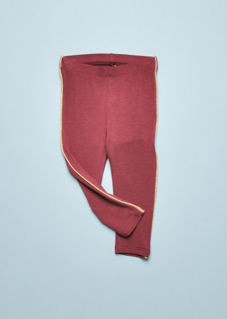 PAULA BABY LEGGINGS - OXBLOOD