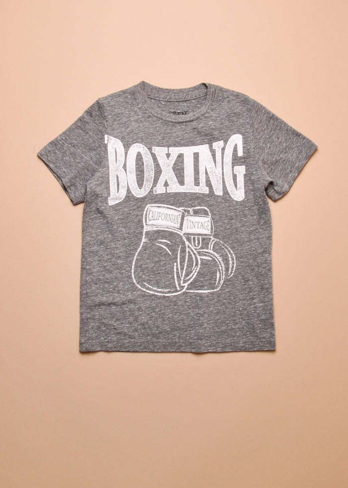 BOXING TEE - HEATHER