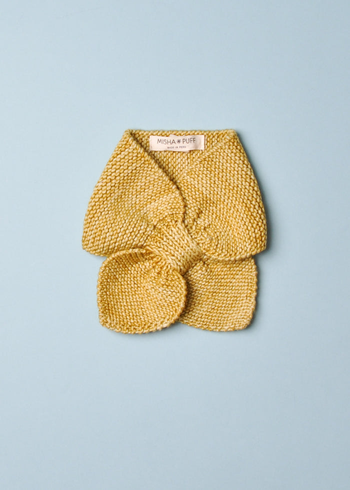 SLEDDING KNIT SCARF - WINTER WHEAT