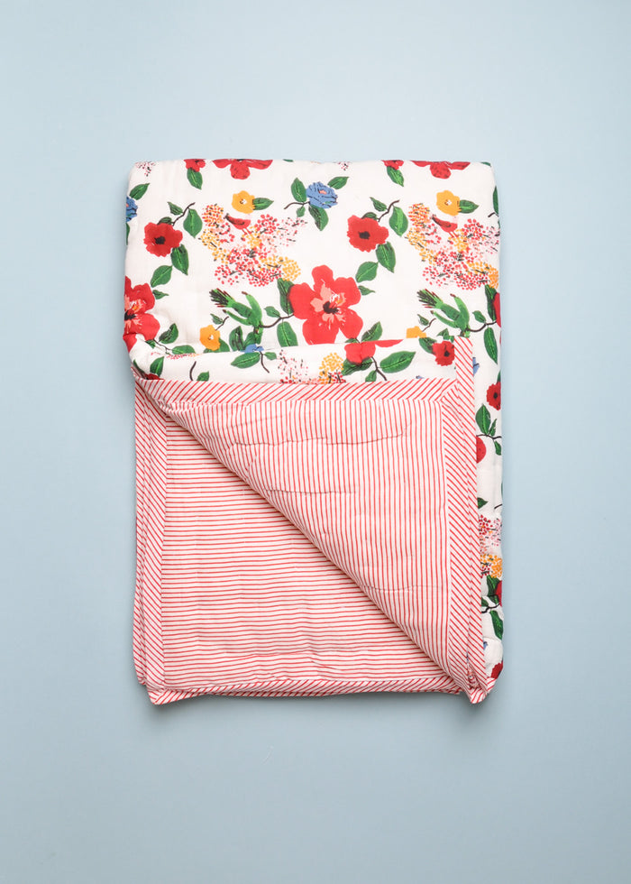 REVERSIBLE QUILT - BIG FLOWER