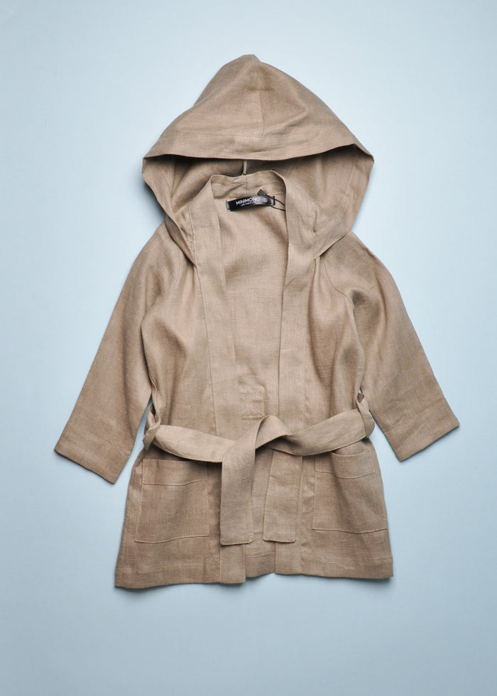 MINIMONO HOODED WRAP JACKET