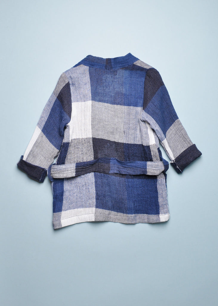 MINIMONO WRAP JACKET - BLUE PLAID