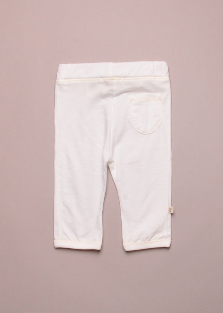 JERSEY BABY PANTS - WHITE
