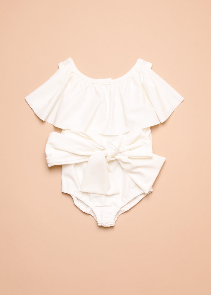 BELTED SWIMSUIT - OFF WHITE