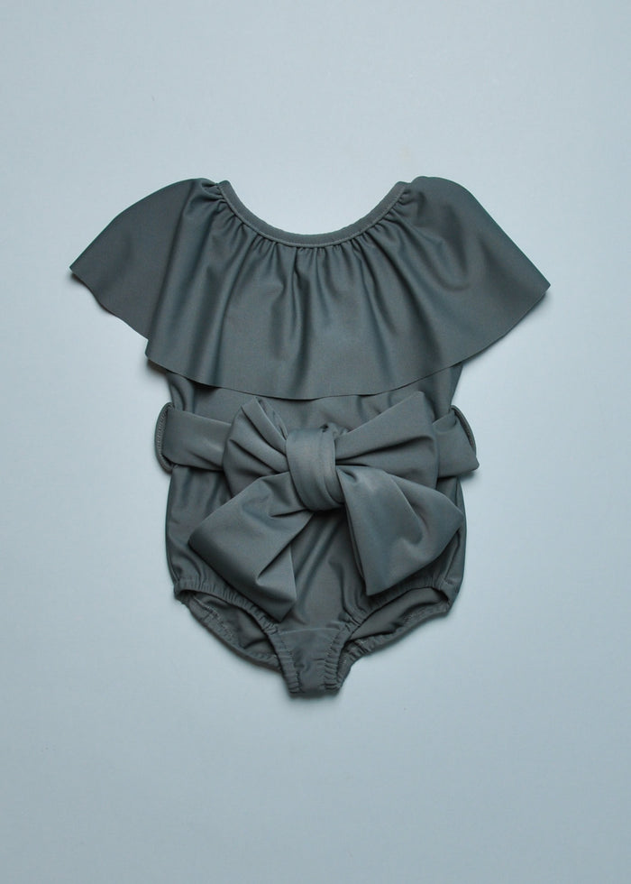 BELTED SWIMSUIT - DARK SLATE