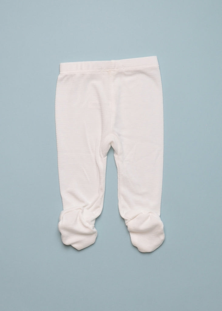CLASSIC FOOTIE PANT - WHITE