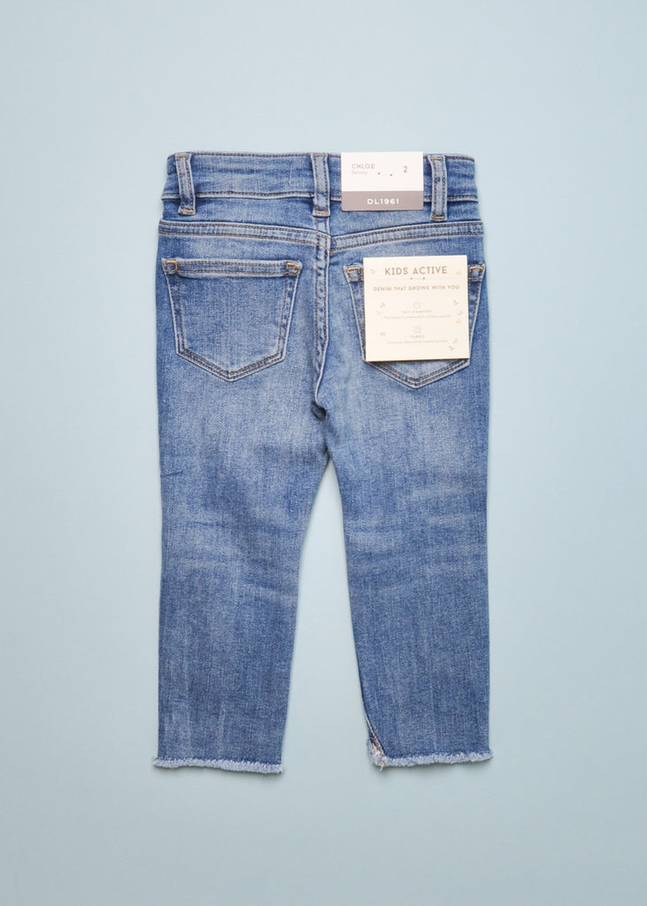 CHLOE BUSTED SKINNY JEANS - GULFSTREAM