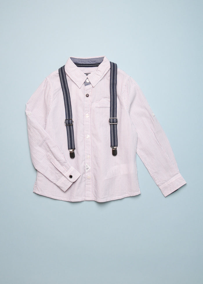 BUTTON DOWN WITH SUSPENDERS