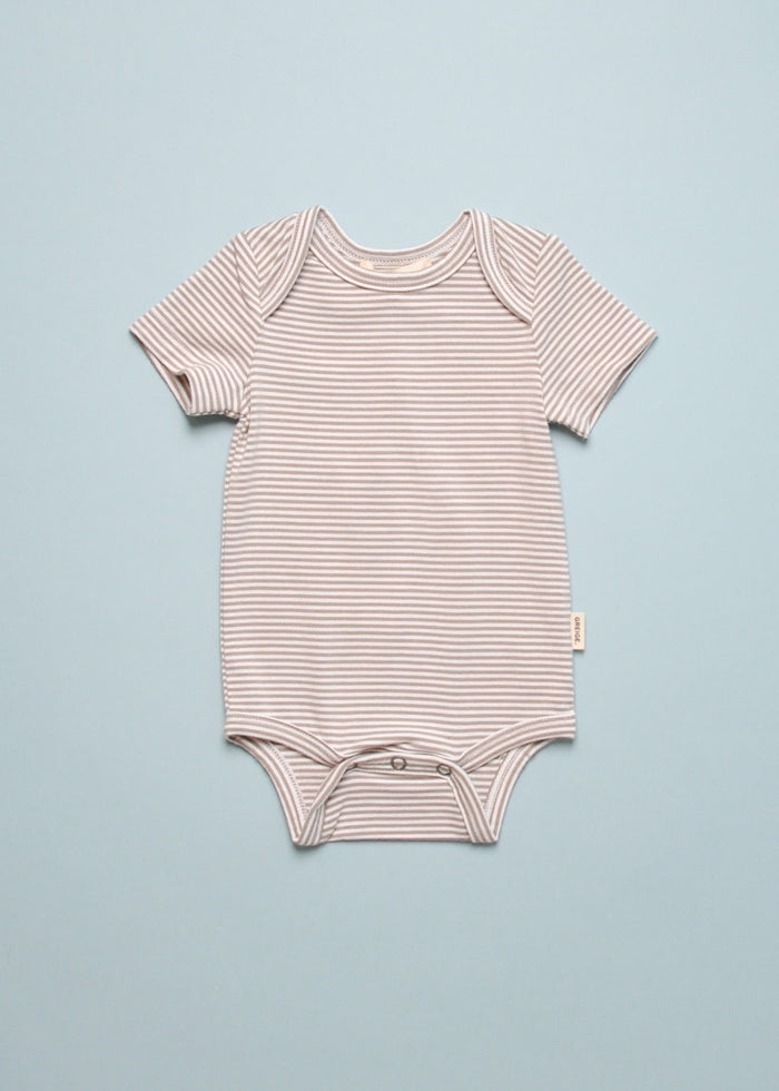 STRIPED BAMBOO ONESIE