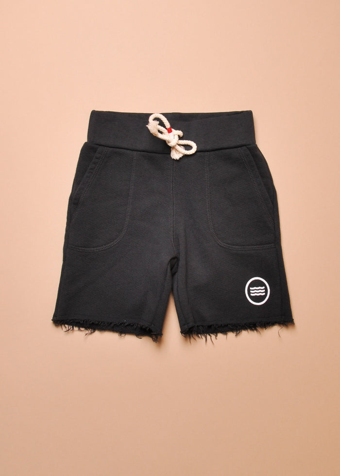 WAVES SADDLE SHORT - BLACK