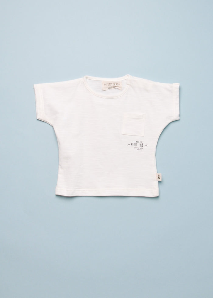 ORGANIC POCKET TEE - WHITE