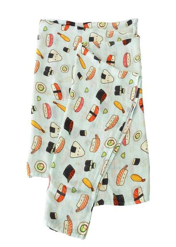 LUXE MUSLIN SWADDLE - SUSHI