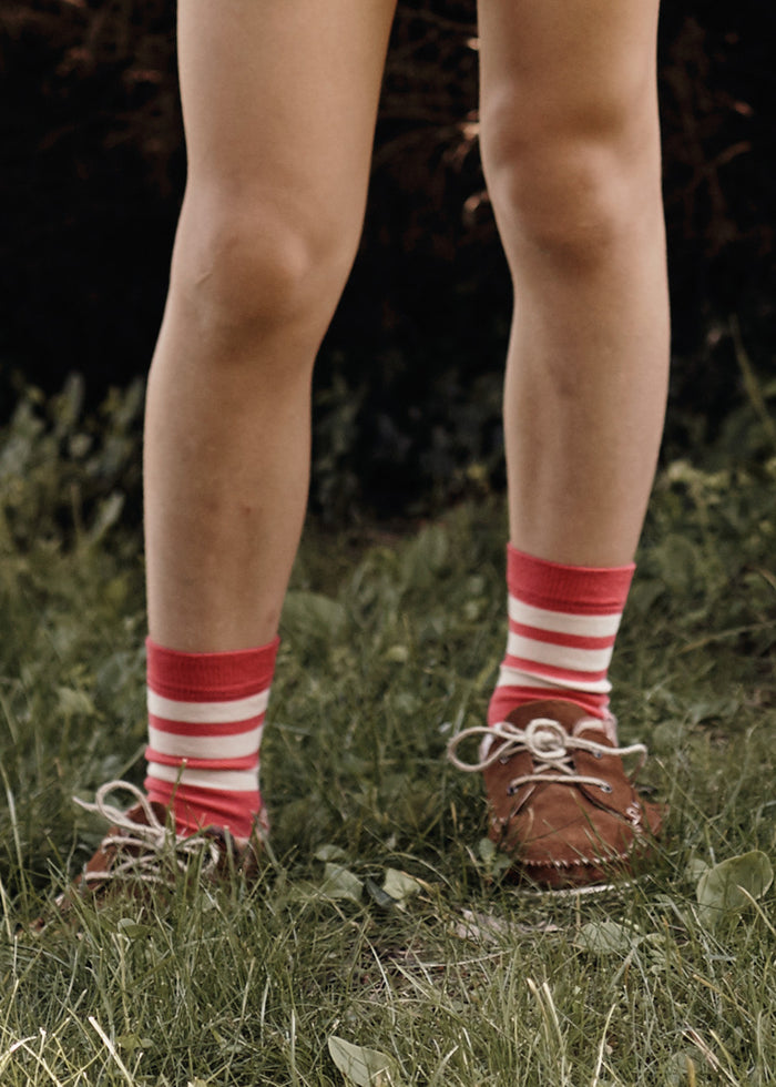 STRIPE SOCKS - CORAL