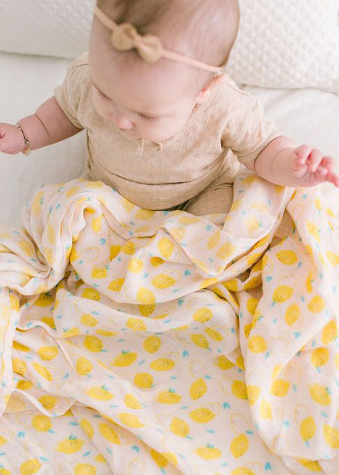 LUXE MUSLIN SWADDLE - LEMON