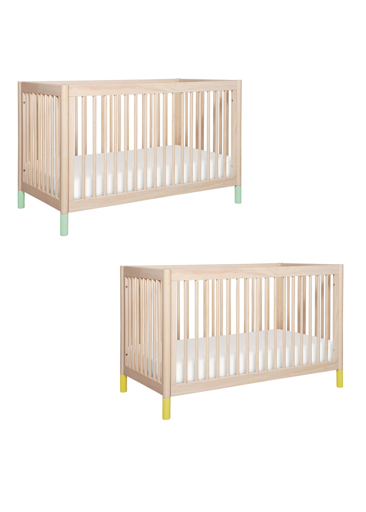 GELATO 4-IN-1 CONVERTIBLE CRIB WITH TODDLER BED CONVERSION KIT - WASHED NATURAL