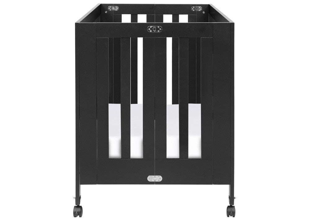 MAKI FULL SIZE FOLDING PORTABLE CRIB - BLACK