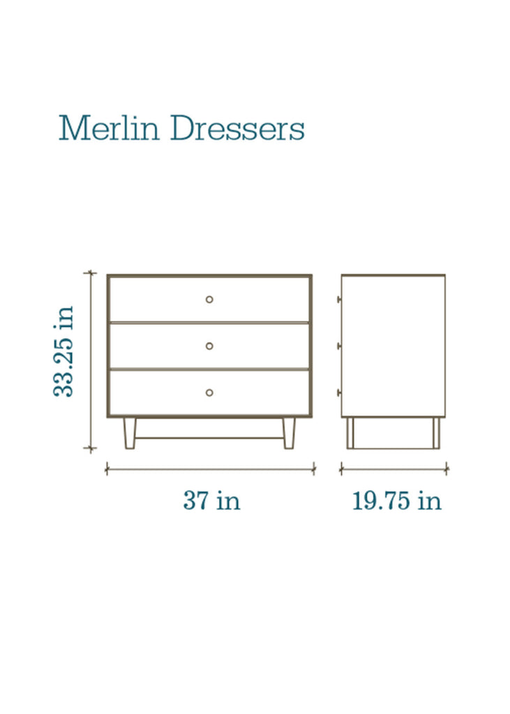 MERLIN CLASSIC 3 DRAWER DRESSER