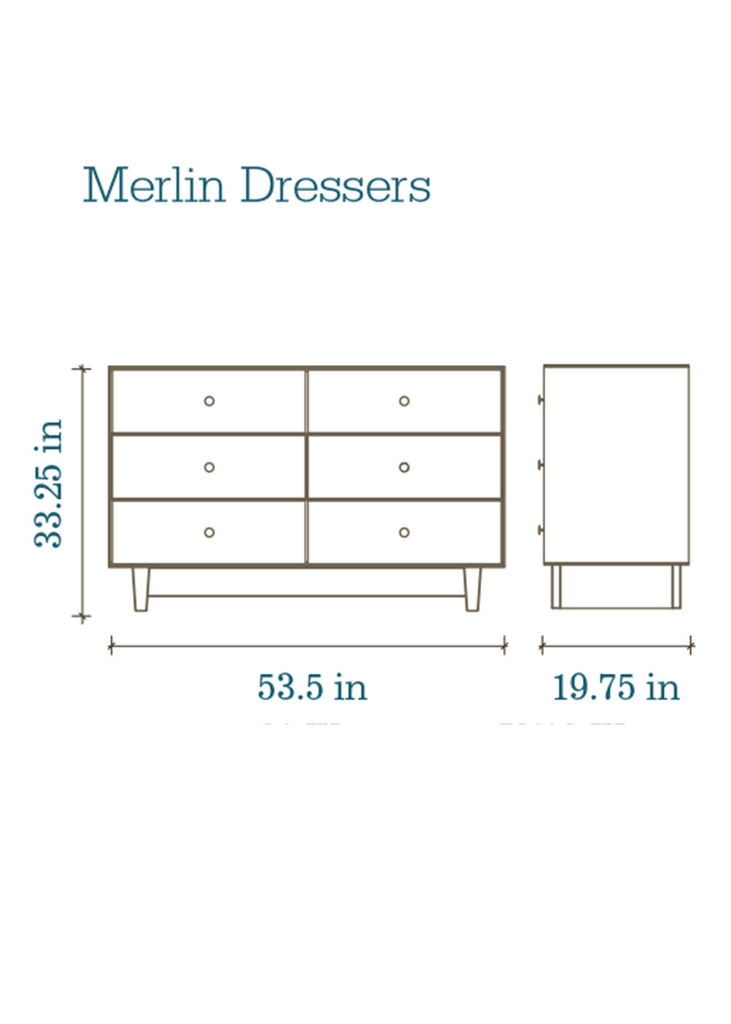 MERLIN CLASSIC 6 DRAWER DRESSER