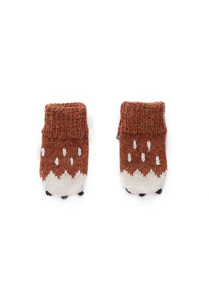KNIT ANIMAL MITTENS