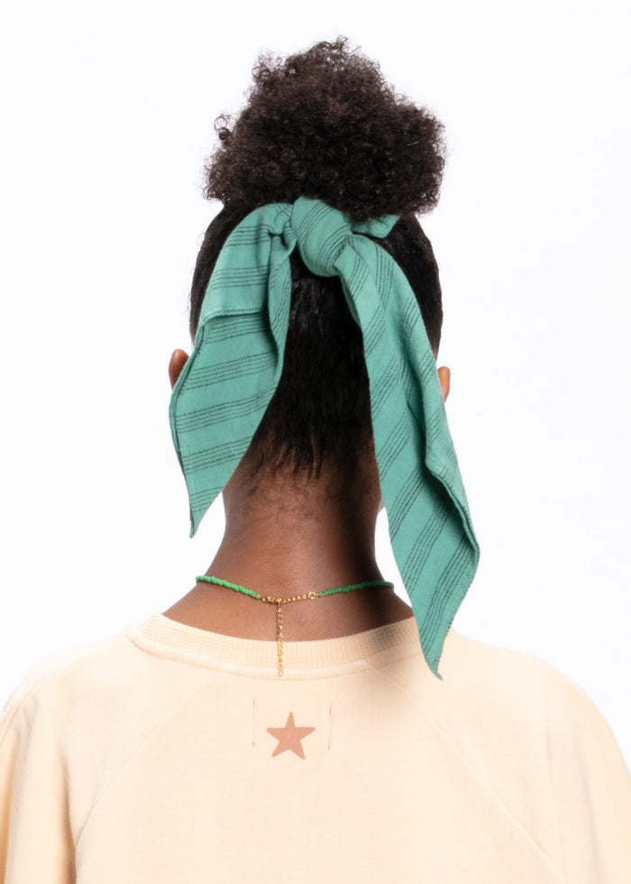 ELASTIC SCARF SCRUNCHIE - GREEN