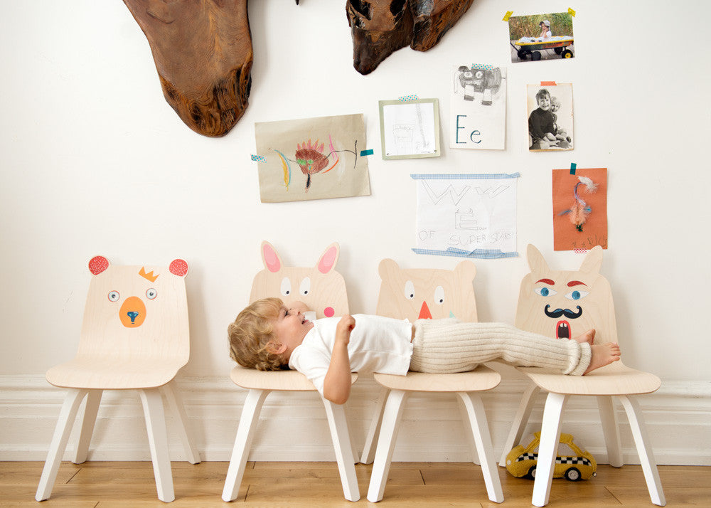 RABBIT PLAY CHAIRS - SET OF TWO - color options
