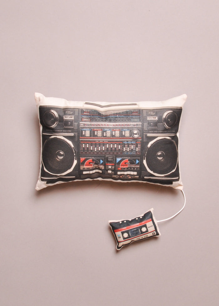 BOOMBOX MUSIC BOX PILLOW