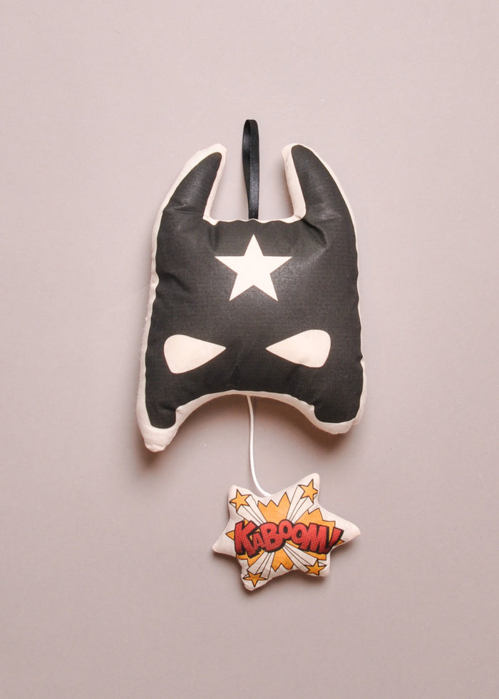BAT MASK MUSIC BOX PILLOW
