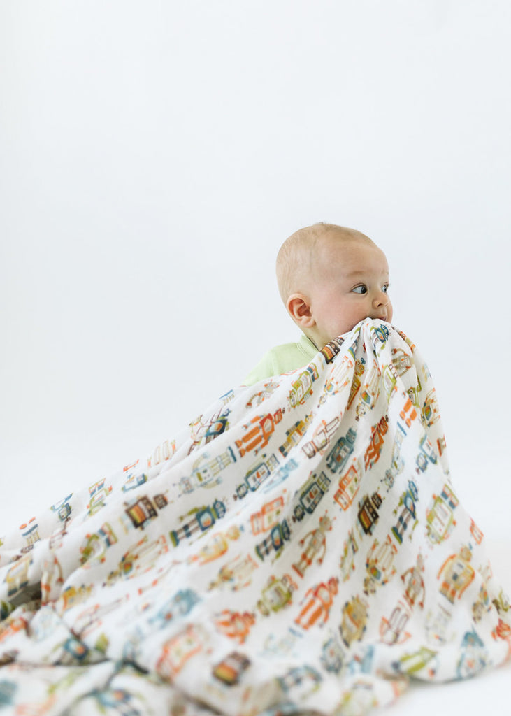 LUXE MUSLIN SWADDLE - ROBOT