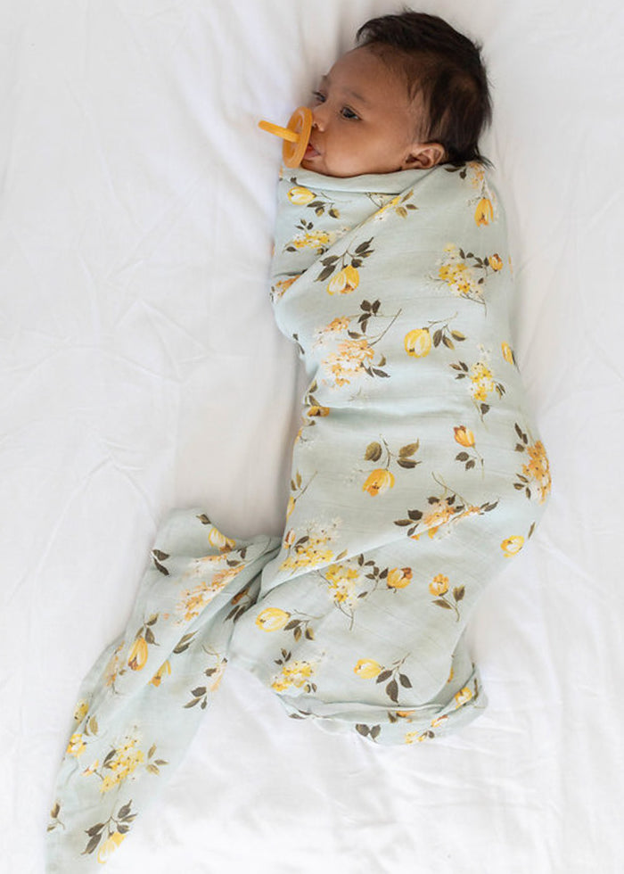 LUXE MUSLIN SWADDLE - WILD ROSE