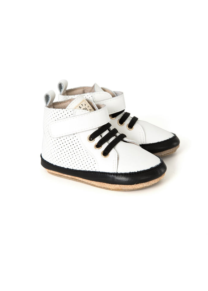 HI-TOP PERFORATED SNEAKER