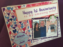 1st Anniversary handmade one-of-a-kind Greeting Card