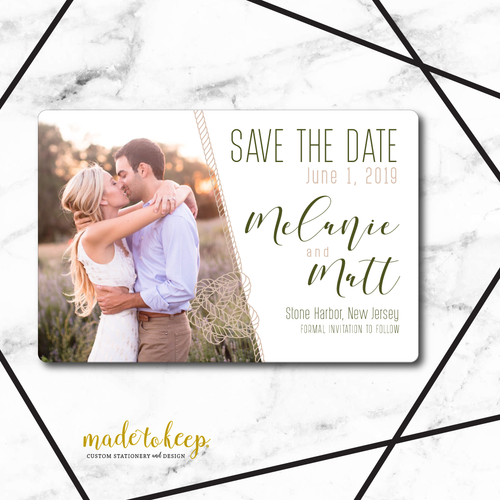 SAV003: We are Tying the Knot Nautical Save the Date